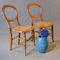 Bergere Dining Chairs Folding Adirondack Chair Plan Antique Pair Victorian English Balloon Back Side C1880