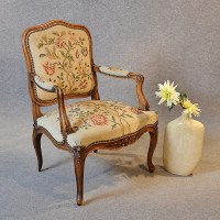 antique needlepoint chair antique armchair walnut ...