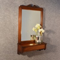 Antique Wall Mirror English Hall Dressing Vanity Bathroom