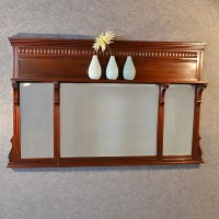 Antique Wall Mirror Over Mantle Display Shelf English ...