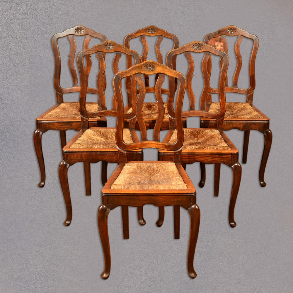 Antique Set Of 6 Dining Chairs French Country Kitchen