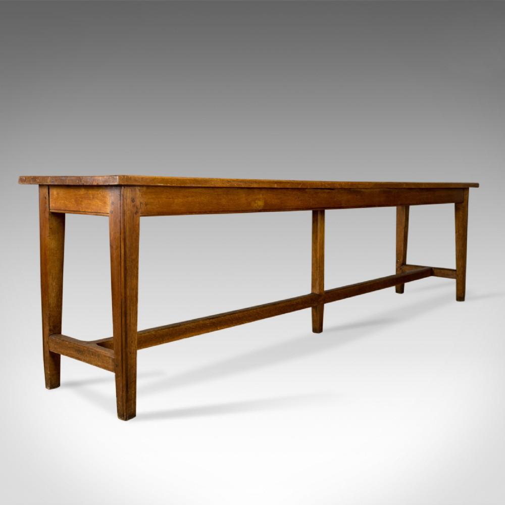 Antique Refectory Table Victorian Long Narrow Dining Console Oak C 1880 550762 Sellingantiques Co Uk