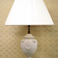 Wedgewood White Jasperware Single Table Lamp