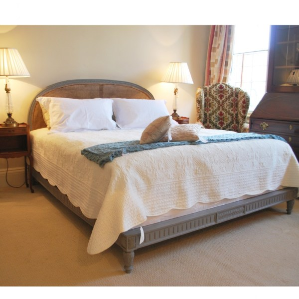 Antique French 6 Superking Cane Bed 291946