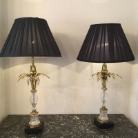 Pair Of Palm Tree Table Lamps With Crystal | 355249 ...