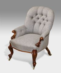 Small Victorian Button Back Arm Chair | 263953 ...