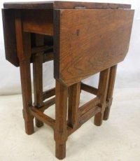 Arts Craft Oak Gateleg Table   86997   Sellingantiques.co.uk