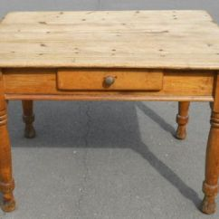 Pine Kitchen Table How Much Do Cabinets Cost Victorian Small 278185 Sellingantiques Co Uk