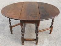Antique Oak Gateleg Dining Table   246276 ...