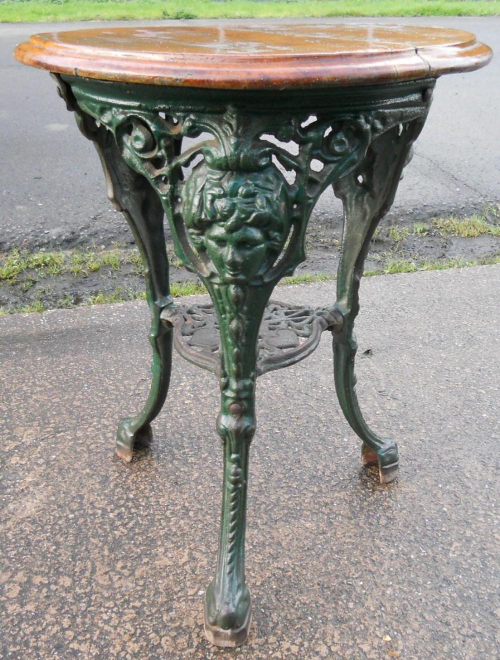 Victorian Cast Iron Pub Table  249125  Sellingantiquescouk