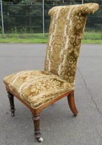Victorian Upholstered Prayer Chair | 239071 ...