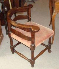 Early Georgian Mahogany Corner Desk Chair | 152409 ...