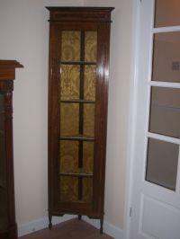 Edwardian Tall Slim Corner Cabinet | 205564 ...