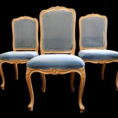 French Louis Chair Crushed Velvet Tub Covers Set Of 4 Broad Seated Early Vintage Dining Chairs To Recover