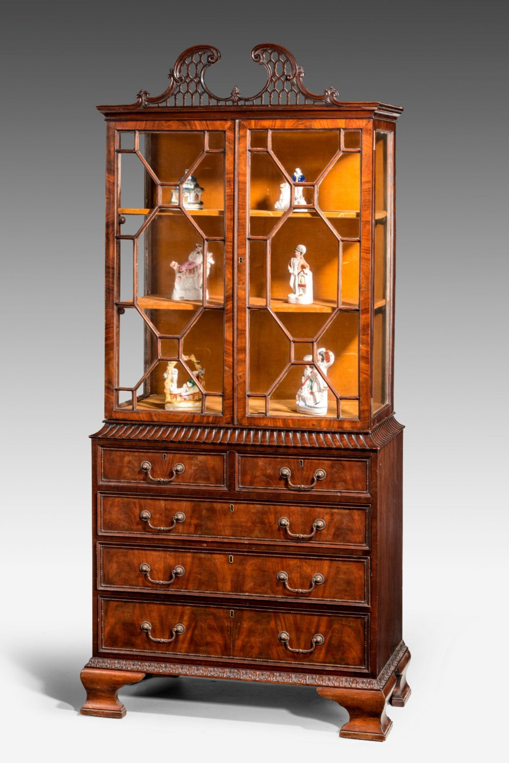 Late 19th Century Small Bookcase China Cabinet 370732