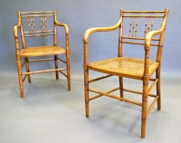 A Pair Of Regency Faux Bamboo Arm Chairs | 291917 ...