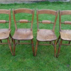 Windsor Kitchen Chairs Chair Rental Prices Set Of Four Victorian Elm Bar Back Oxford