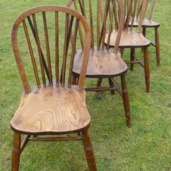 Windsor Kitchen Chairs Chair Design Video Set Of 4 Elm Spindle Back Dining 173364 Sellingantiques Co Uk
