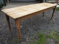 Victorian Long Narrow Plank Top Pine Kitchen Refectory ...