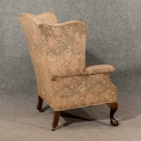 Antique Large Wing Armchair Wingback Fireside Chair Fine ...