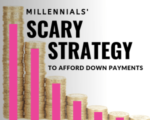 Millennials' scary strategy to afford down payments - savings graphic