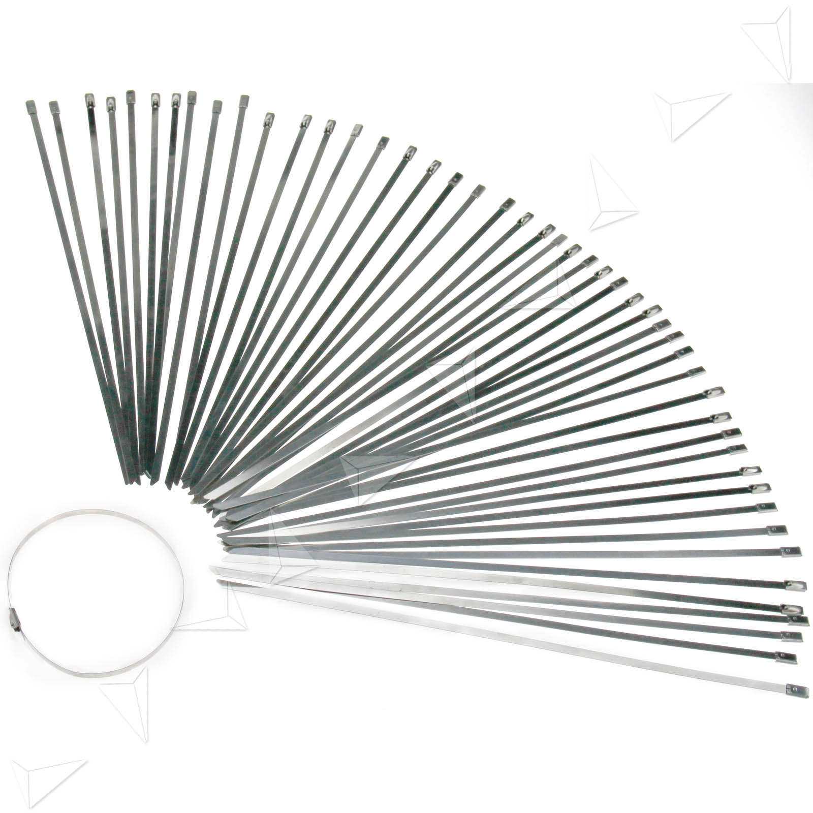 50 X Top Quality Stainless Steel Metal Cable Ties