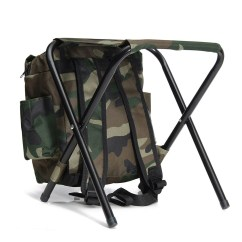Fishing Chair Small Dining Cushions Ikea 2in1 Outdoor Tackle Backpack Bag Camping Foldable