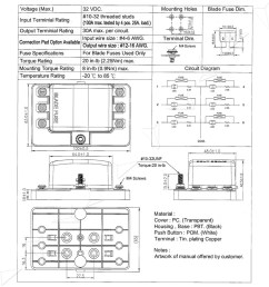 blade fuse box block holder 6 way led indicator light kit for 12v car marine [ 1600 x 1600 Pixel ]