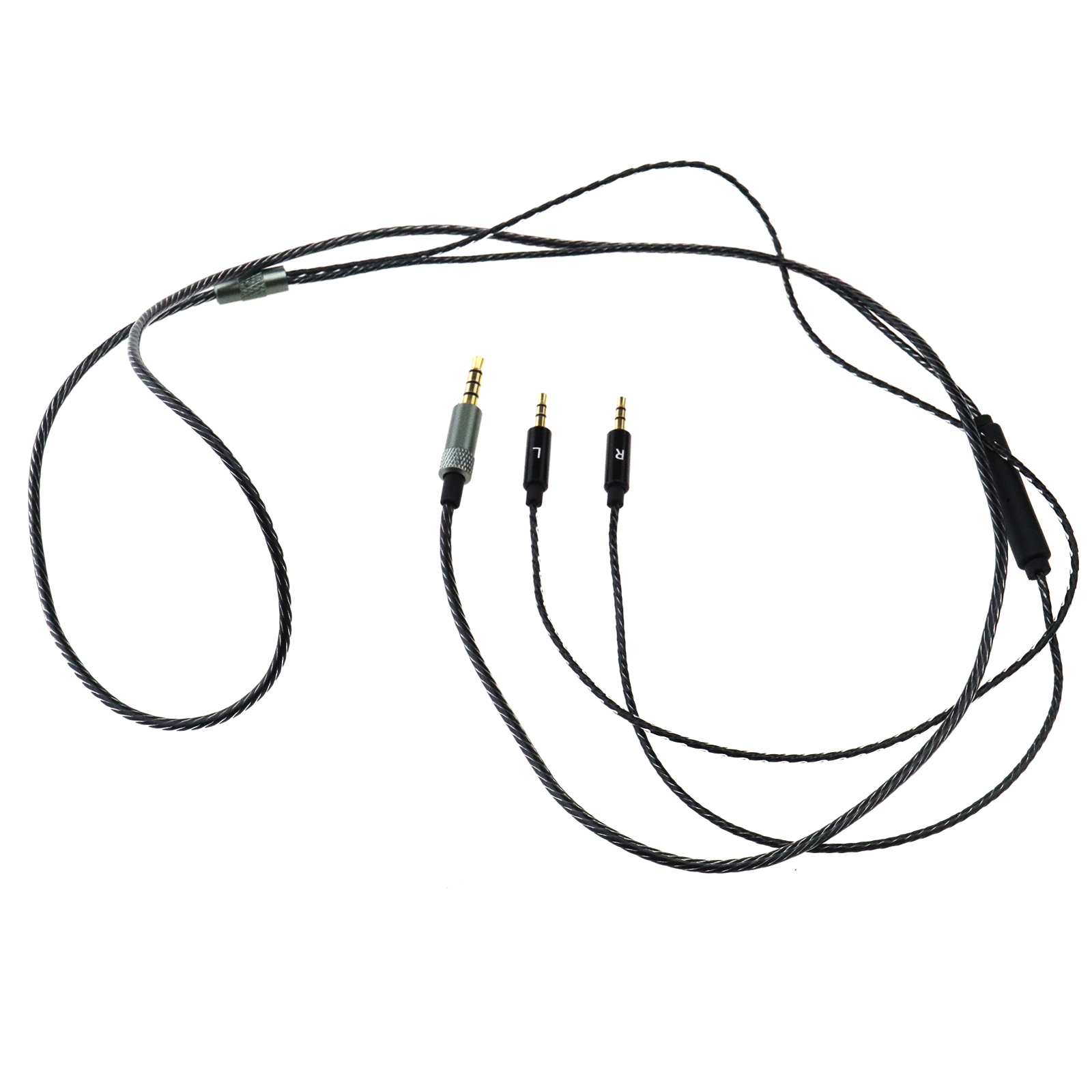 Earphone Headphone Cable Lead Mic Remote Volume Control