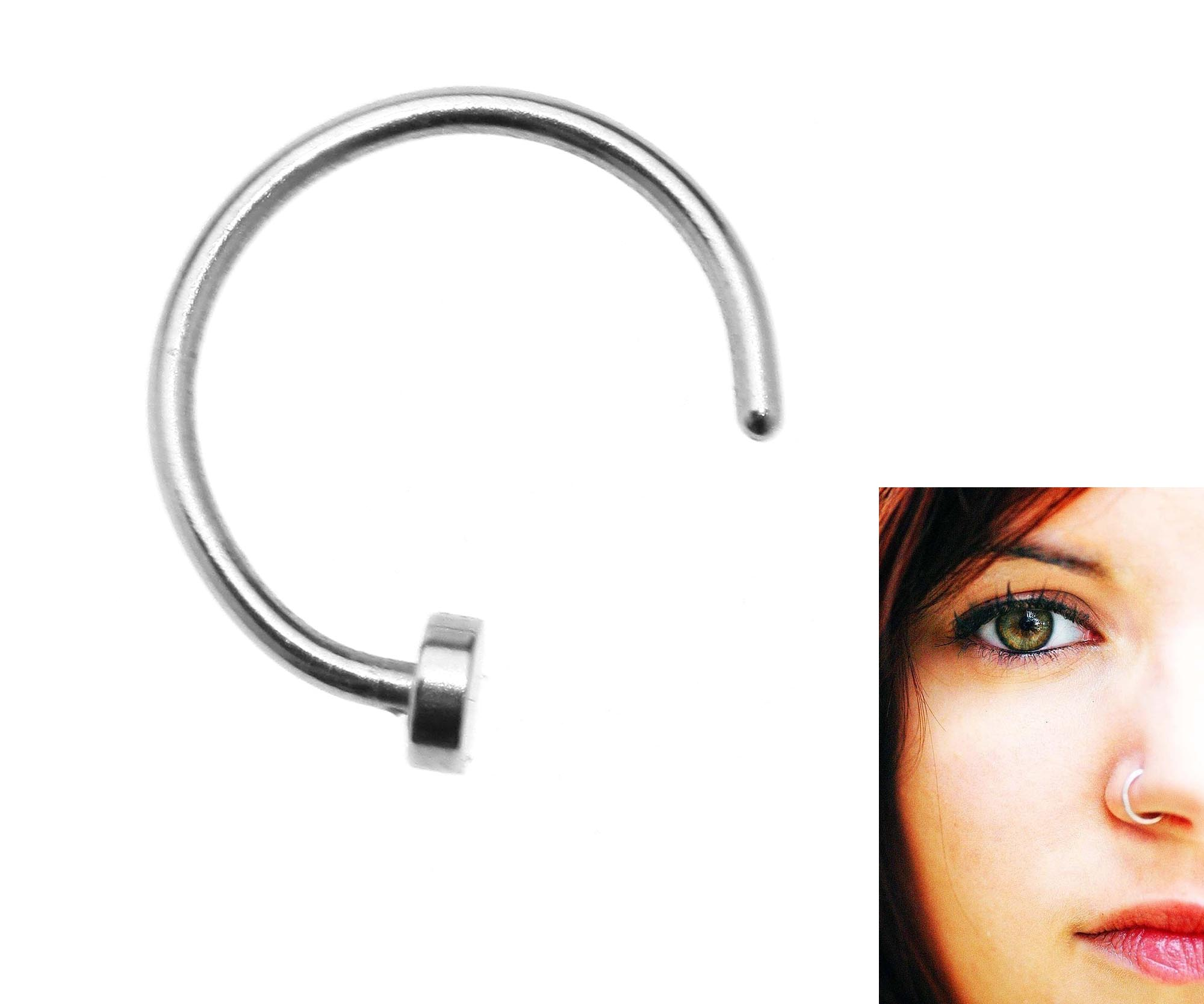 6mm Nose Ear Ring Surgical Steel Silver Piercing Stud Thin