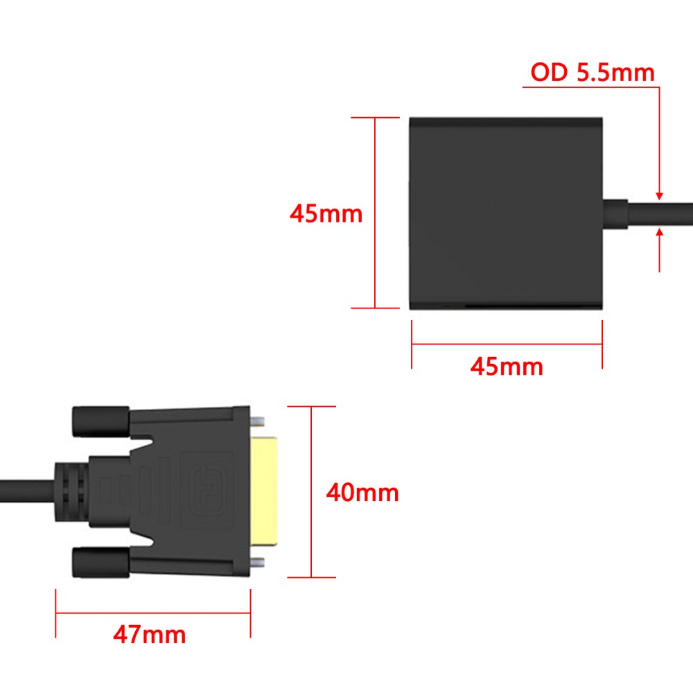 medium resolution of dvi to vga adapter dvi 24 1 dvi d dual link to vga male to female cable adapter