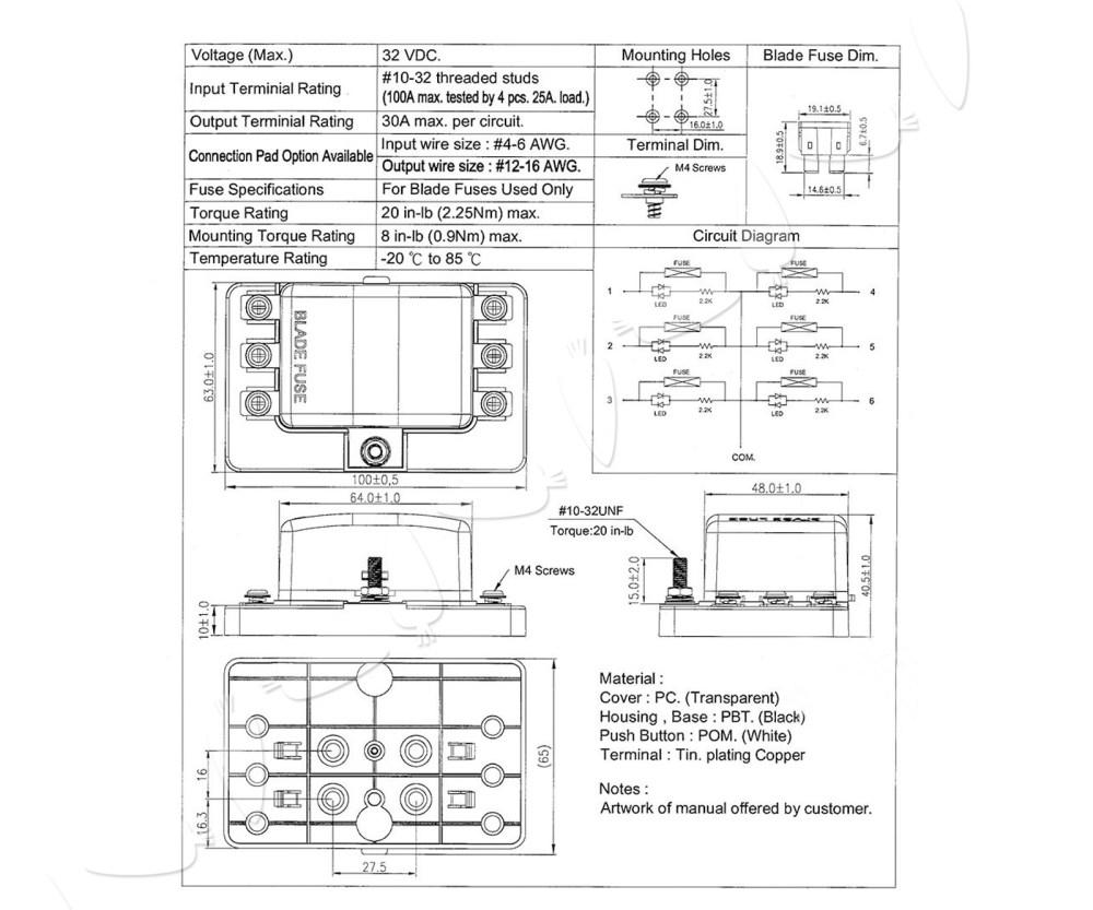 medium resolution of dc 12 24v 6way fuse box block holder car boat automotive auto blade atc ato