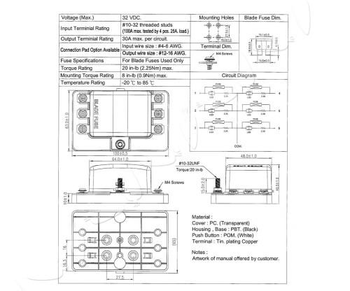 small resolution of dc 12 24v 6way fuse box block holder car boat automotive auto blade atc ato