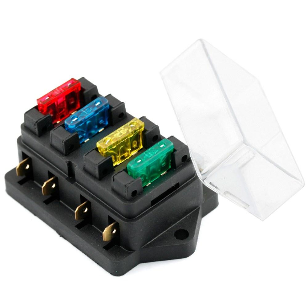 medium resolution of 4 way led car boat marine circuit blade fuse box holder standard ato atc 12v