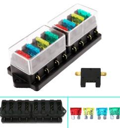 universal 8way circuit standard blade fuse box holder block car truck 12v 24v [ 1600 x 1600 Pixel ]
