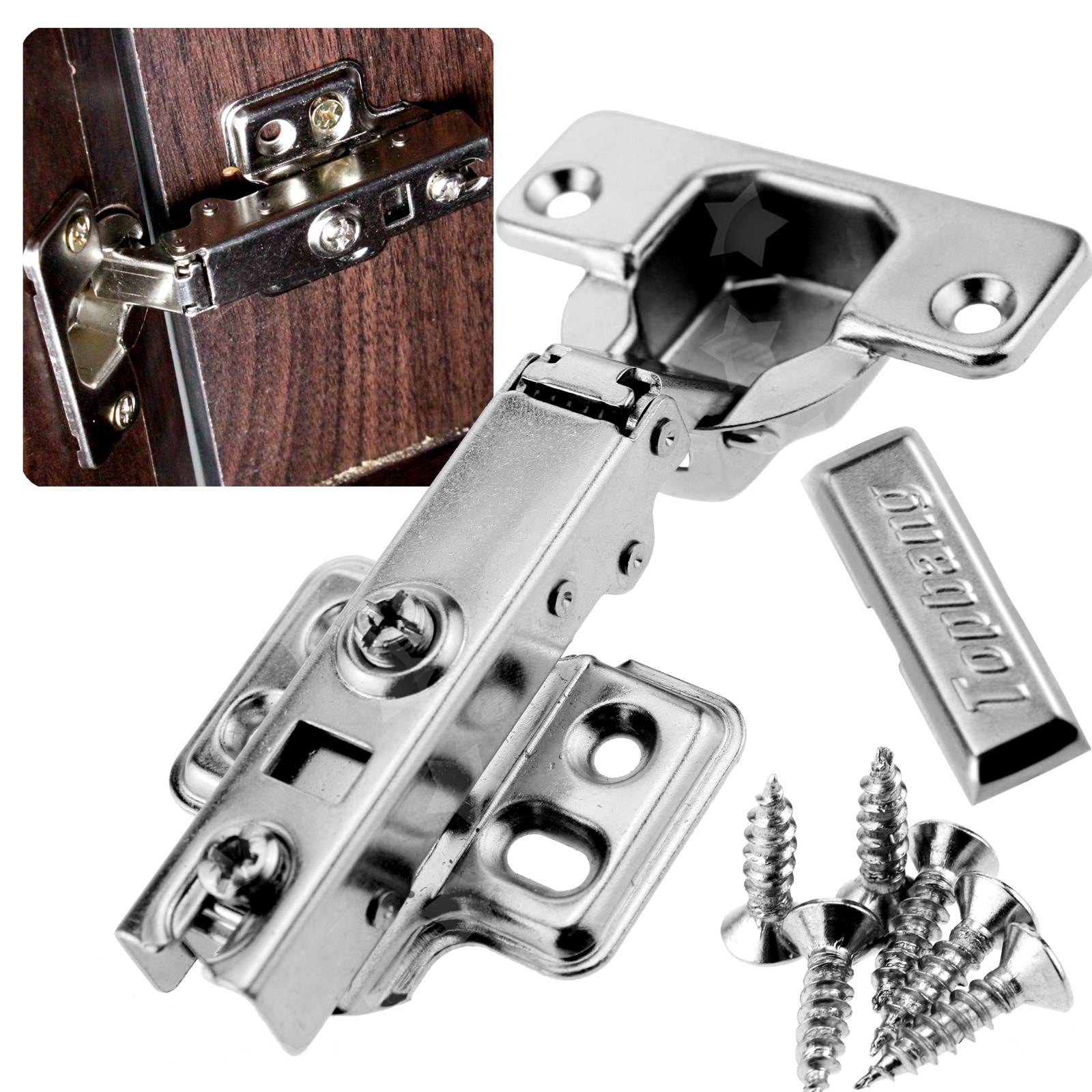 Top Quality Kitchen Cabinet Door Soft Close Hydraulic Standard Door Hinges Set  eBay