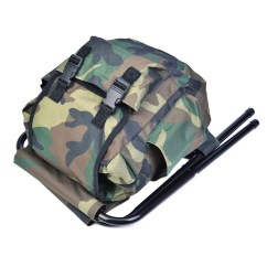 Fishing Backpack Chair Graco Duodiner High Cover Replacement Foldable Outdoor Stool Travel