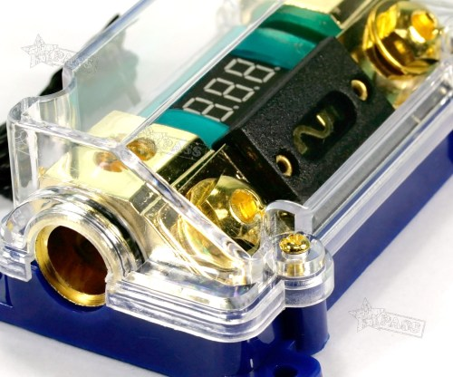 small resolution of 100a car truck led voltage display stereo audio power fuse box holder block