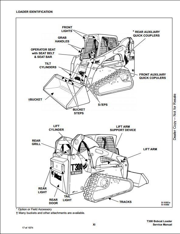 Bobcat T300 Turbo High Flow Track Loader Service Manual