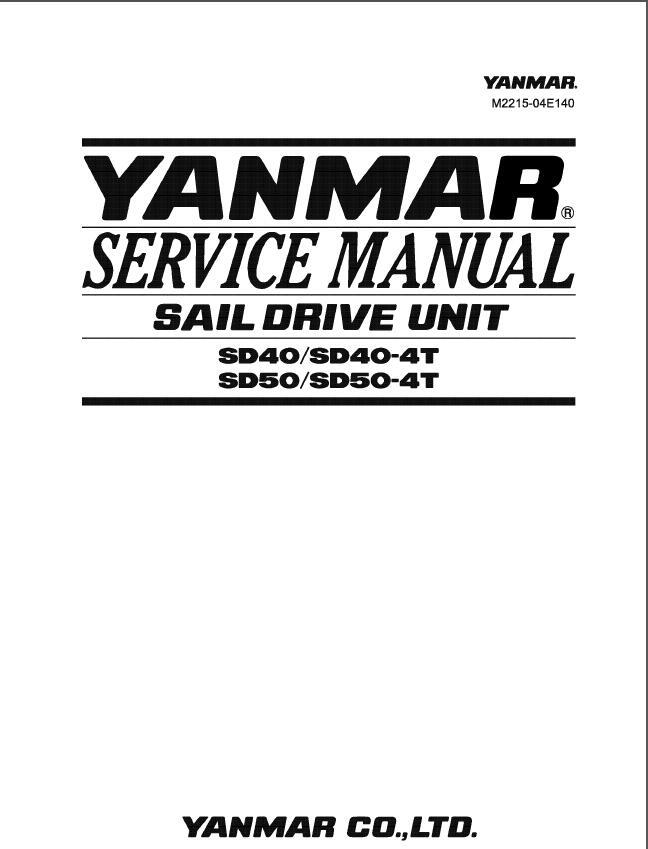 Yanmar Sail Drive Unit Sd40, Sd40-4t, Sd50, Sd50-4t