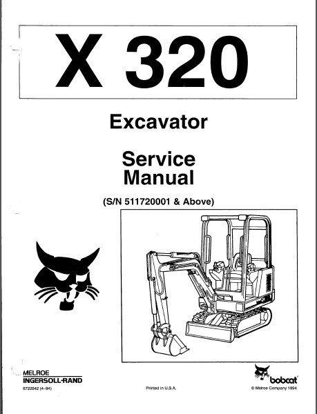 Bobcat X 320 Excavator Service Repair Manual PDF