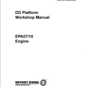 Detroit DD15 EPA07 Engine Service Repair Manual