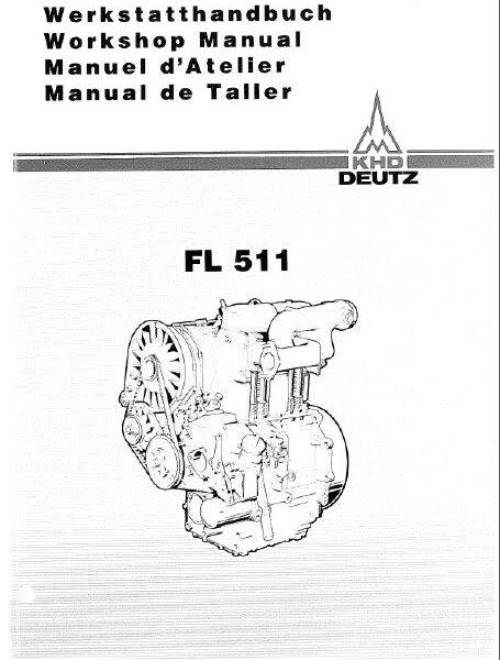 Deutz Fl511 Diesel Engine Workshop Manual