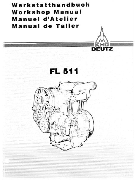 Deutz Fl511 Diesel Engine Workshop Manual