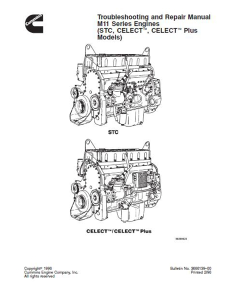 Cummins M11 Series Engines Troubleshooting and Repair Manual