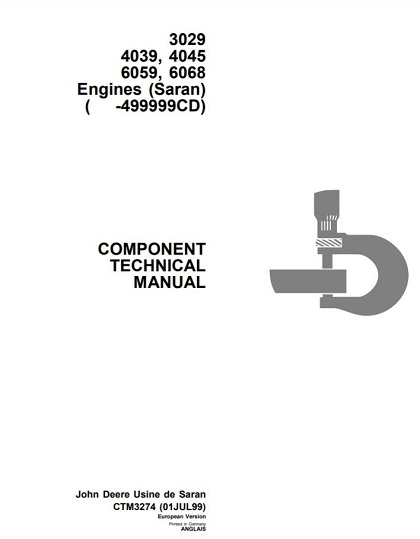 John Deere 3029 4039, 4045 6059, 6068 Engines Technical Manual