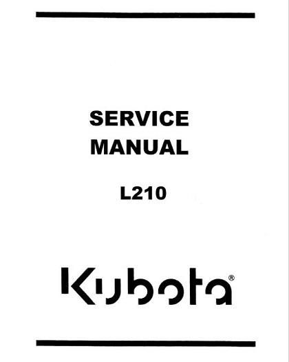 Kubota L210 Tractor Service Repair Manual PDF