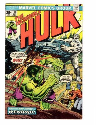 Incredible Hulk 180 Value