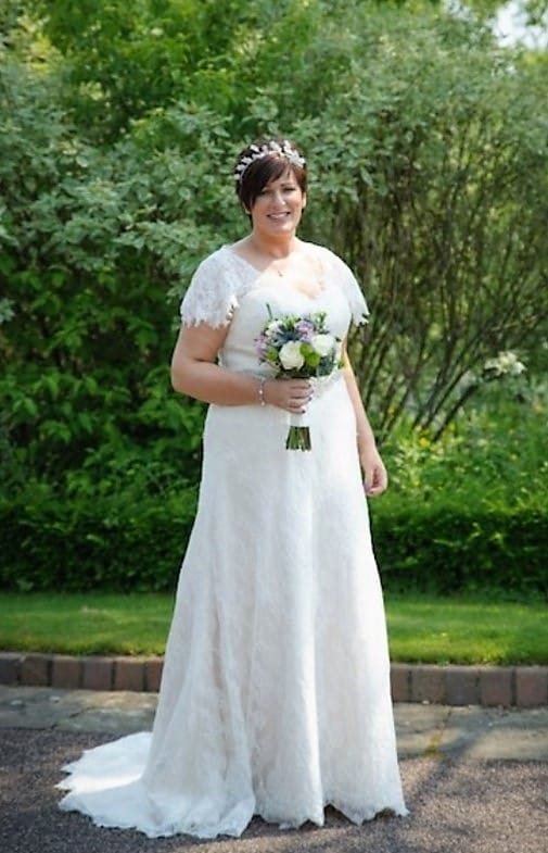 White Leaf Bridal Bespoke Vintage Italian Lace Gown  Sell