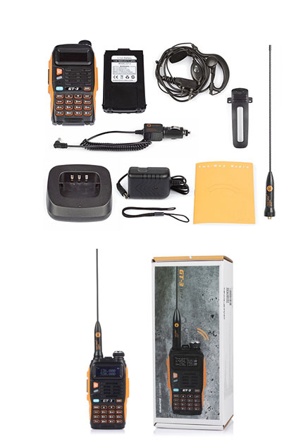2x Baofeng GT-3TP 8W 136-174/400-520Mhz Ham Two-way Radio +2*Speaker & 1* Cable 22